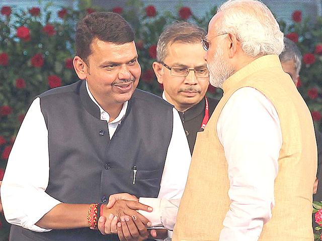 Devendra-Phadnavis-takes-oath-as-chief-minister-of-Maharashtra-at-the-swearing-in-ceremony-at-Wankhede-Stadium-in-Mumbai--Anshuman-Poyrekar-HT-photo