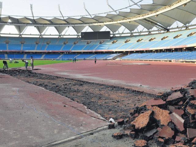 The-Nehru-Stadium-track-underwent-repairs-last-month-Sushil-Kumar-HT-Photo