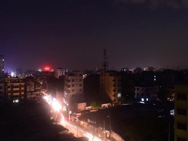A-view-of-Dhaka-during-the-power-blackout-on-Saturday-Power-was-restored-in-most-parts-of-Bangladesh-about-12-hours-after-a-massive-nationwide-electricity-blackout-hit-the-country-AFP-Photo