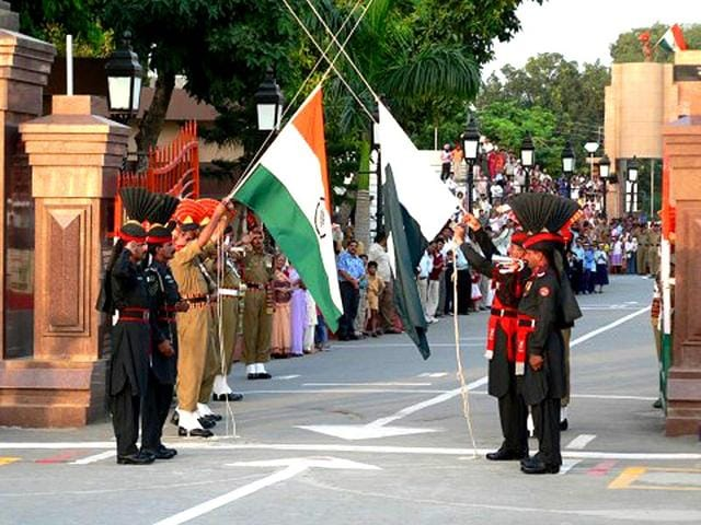 The-flag-ceremony-at-Wagah-is-attended-by-hundreds-on-both-sides-of-the-border-and-is-particularly-crowded-on-Sunday-File-Photo