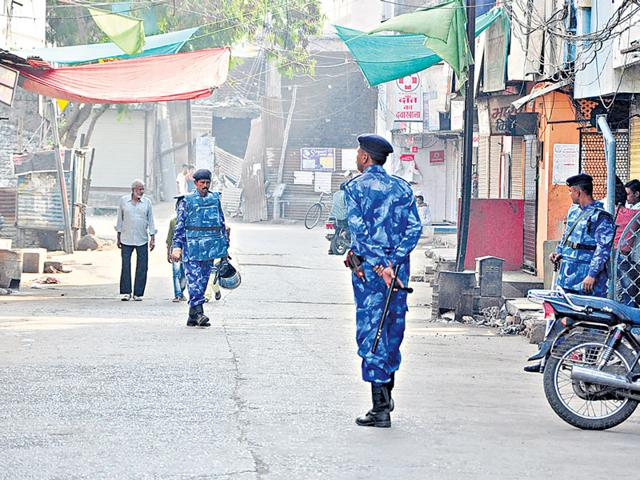 Prohibitory-orders-imposed-in-four-police-station-areas-of-Ujjain-Begumbagh-and-areas-nearby-remained-peaceful-on-Sunday-Sunil-Magariya-HT-photo