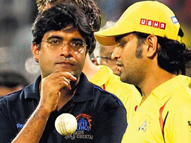 Former Chennai Super Kings (CSK) team official Gurunath Meiyappan and Rajasthan Royals co-owner Raj Kundra have been suspended for life from any cricketing activity. (HT photo)