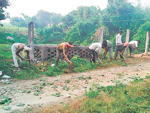 With-Prime-Minister-Narendra-Modi-scheduled-to-visit-the-village-Jayapur-in-UP-the-district-administration-has-begun-sprucing-up-the-place-HT-Photo