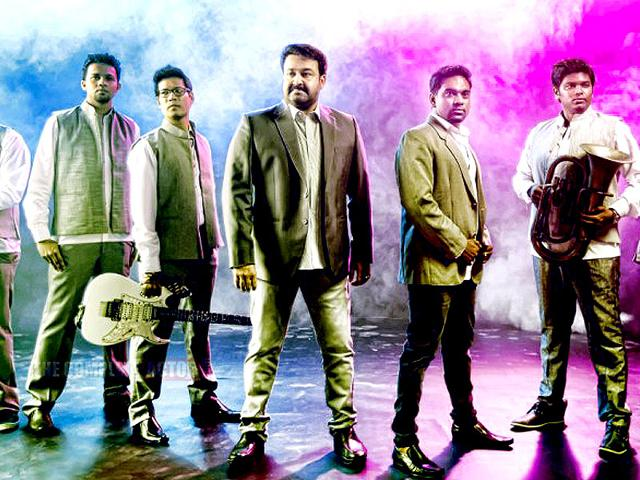 Mohanlal-formed-his-music-band-Lalisom-in-November-2014-thecompleteactor-com