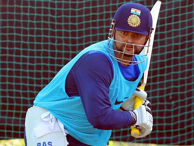 Indian-cricketer-Suresh-Raina-during-a-practice-session-at-Sardar-Patel-Stadium-Motera-in-Ahmedabad-Kunal-Patil-HT-Photo