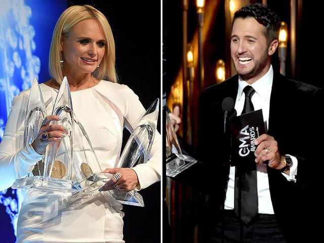 Miranda-Lambert-and-Luke-Bryan-at-the-Country-Music-Awards-Agencies
