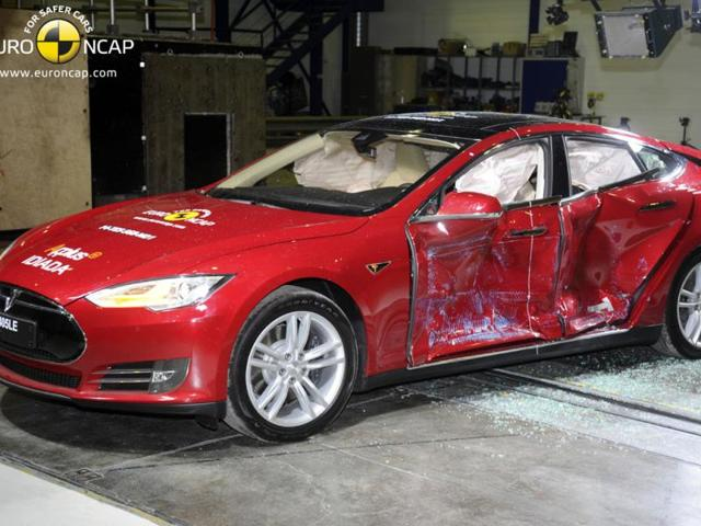 Tesla Model S,Euro NCAP crash tests,tesla crash tests
