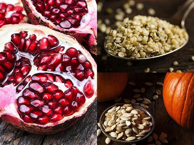 seeds health benefits,flax seeds,pomegranate seeds