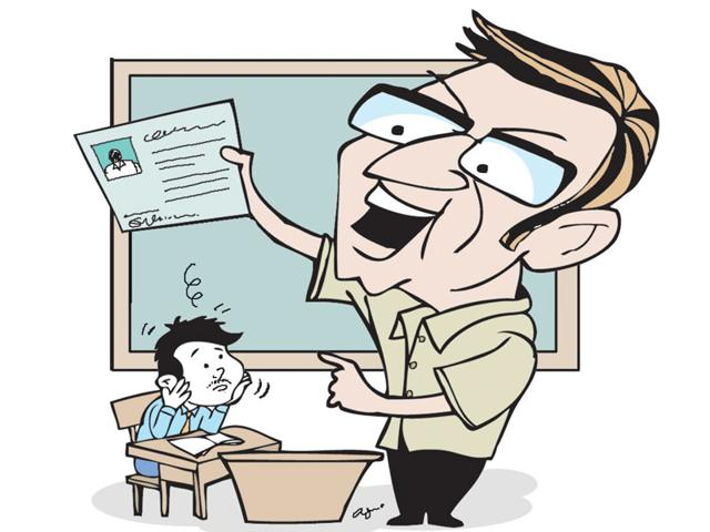 Shekhar-Kumar-hailing-from-Gaya-in-Bihar-had-tried-to-appear-in--Railway-Recruitment-Board-exam-held-at-Bhopal-on-Sunday-when-he-was-caught-by-the-invigilator-Illustration-by-Abhimanyu-Sinha
