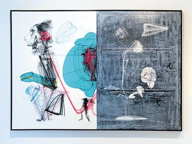 art,art in film studio,asim waqif