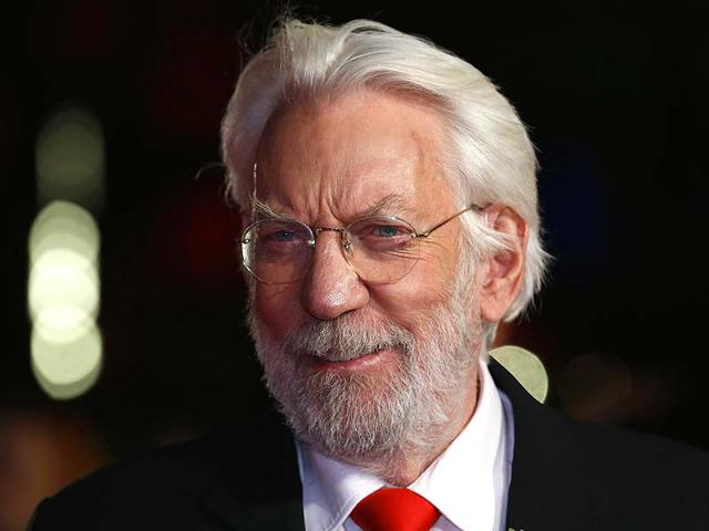 Donald Sutherland arrives for the world premiere of The Hunger Games: Mockingjay Part 1 at Leicester Square in London November 10, 2014. (Reuters)