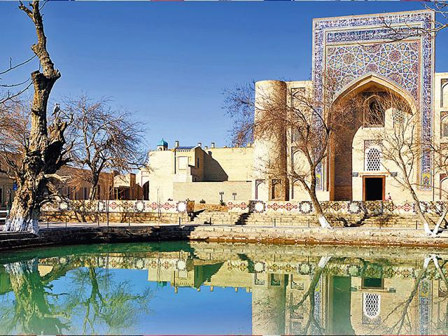 A-madrassa-in-Bukhara-Uzbekistan