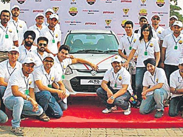 Some of the finalists,Maruti Suzuki finalists,Maruti Suzuki Young Driver 2014