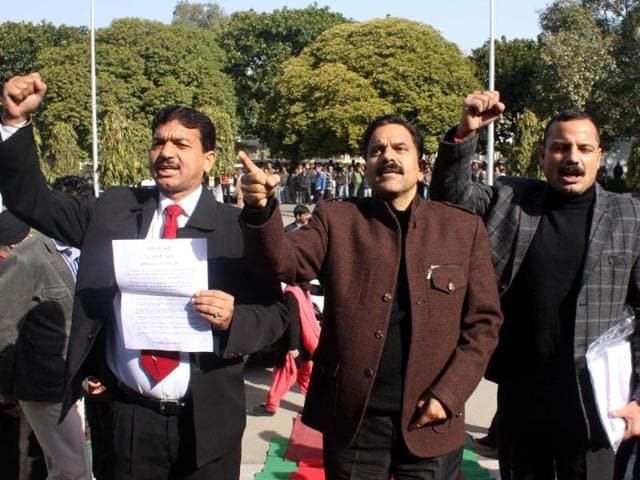 Panthers-Party-MLA-shout-slogans-against-the-state-government-in-2012-in-the-assembly-HT-File-photo