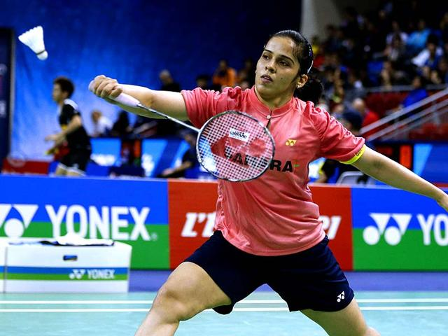 Saina-Nehwal-plays-against-France-s-Sashina-Vignes-Waran-in-a-women-s-single-match-during-the-French-international-badminton-tournament-at-the-Coubertin-stadium-in-Paris-AFP-Photo