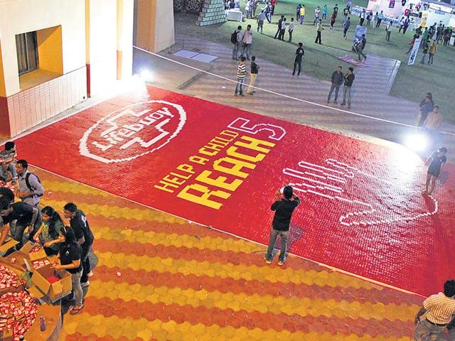 The-soap-mosaic-made-by-students-of-IIM-Indore-HT-photo