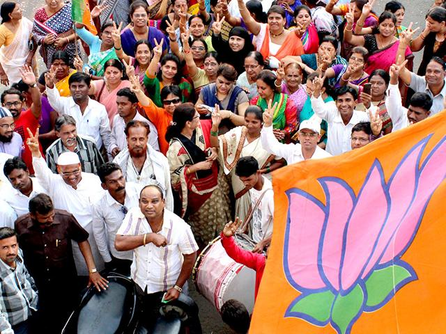 BJP-workers-celebrate-after-the-declaration-of-the-Jharkhand-assembly-election-results-in-Dhanbad--on-Tuesday-PTI-Photo