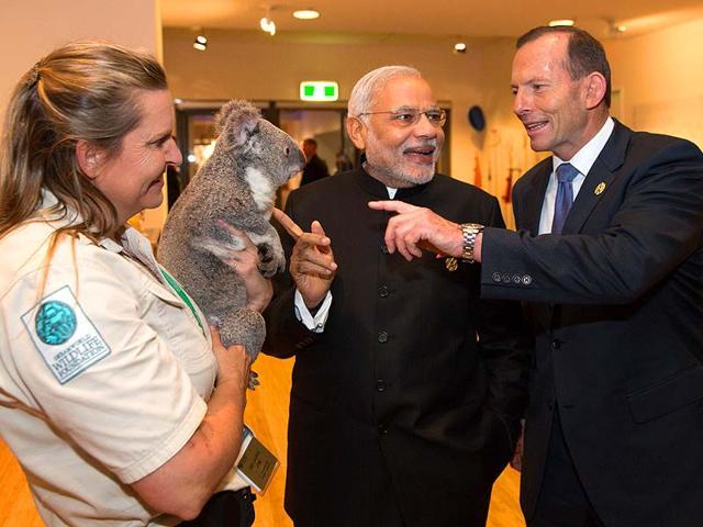Narendra-Modi--with-Australia-s-Prime-Minister-Tony-Abbott