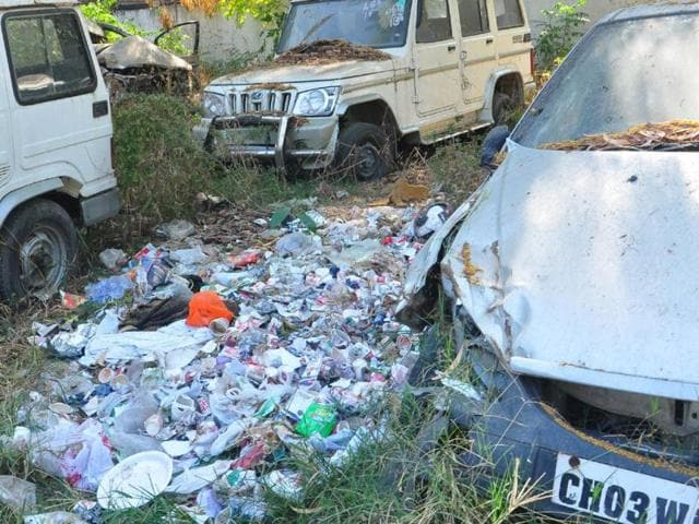 Chandigarh,Garbage,impounded vehicles