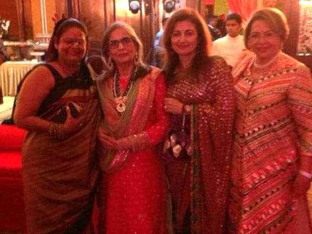 Salma Khan (2nd from left) and Helen (extreme right) at one of the wedding events. (Courtesy: Twitter)