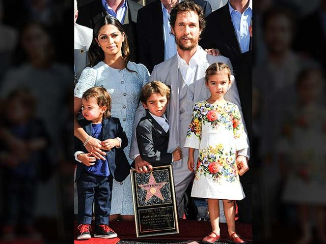 Mattew-McConaughey-with-his-family-recieving-a-star-on-the-Hollywood-Walk-of-Fame-AP-Photo