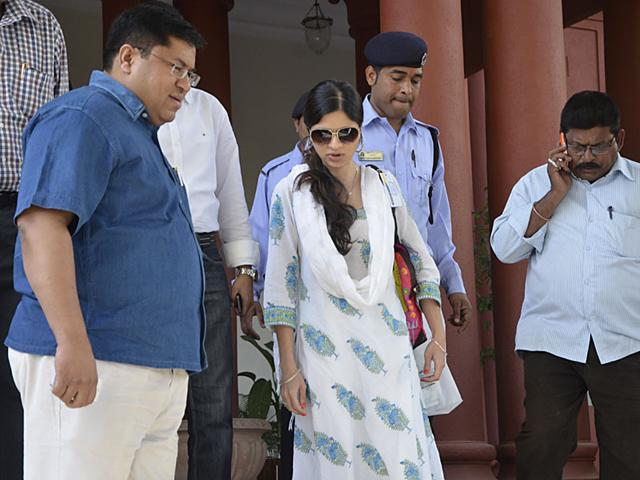 Saba-Sultan-daughter-of-Late-Mansoor-Ali-Khan-Pataudi-in-Bhopal-on-Thursday-to-attend-the-meeting-of-Auqaf-e-Shahi-Mujeeb-Faruqui-HT-photo
