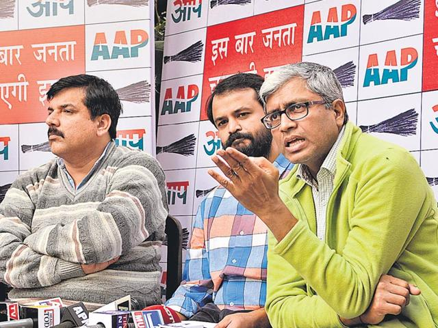 AAP-leaders-highlight-key-issues-ahead-of-the-assembly-polls-in-Delhi-Saumya-Khandelwal-HT-Photo