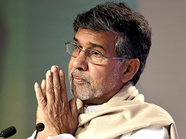 Kailash-Satyarthi-has-been-heading-a-campaign-for-child-rights-pushing-for-their-education-and-fighting-against-child-trafficking-and-bonded-labour-His-organisation-the-Bachpan-Bachao-Andolan-has-been-at-the-forefront-of-the-drive-against-child-labour-in-India-for-years