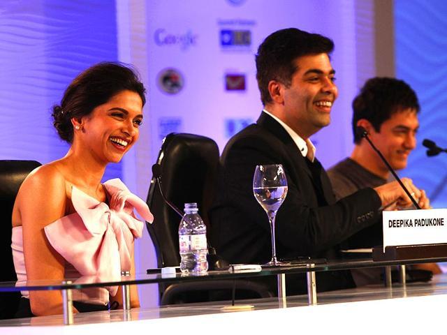 Aamir, Deepika in conversation with KJo at HT Summit