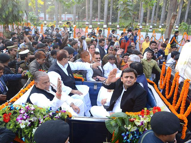 Mulayam-Singh-Yadav-said-that-NDA-government-had-been-copying-the-projects-which-he-had-launched-in-the-past-in-UP-HT-Photo