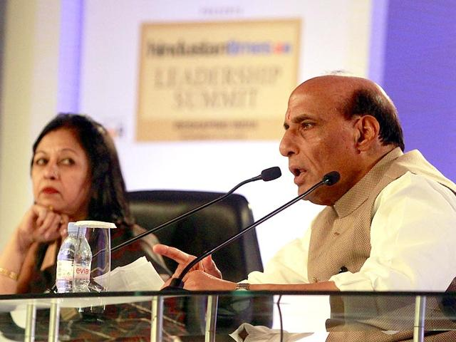 Rajnath-Singh-said-that-India-was-open-to-dialogue-with-Pakistan-but-Islamabad-should-take-the-first-step-to-resume-talks-between-the-nuclear-armed-rivals-Sanjeev-Verma-HT-Photo