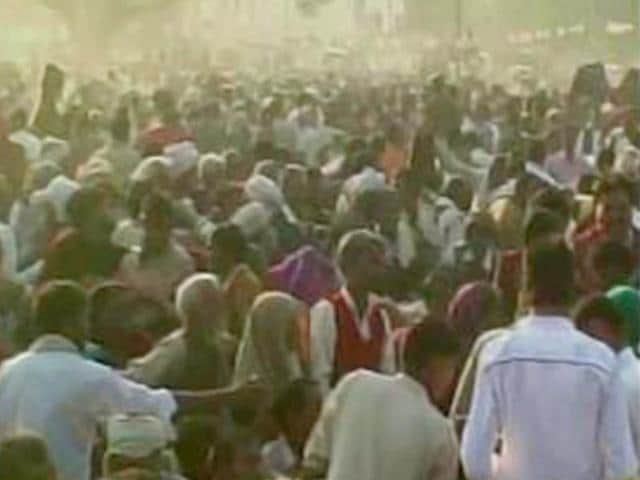 One--woman-died-in-a-stampede-at-an-event-in-Badaun-where-SP-MP-Dharmendra-Yadav-was-distributing-blankets-ANI-Photo