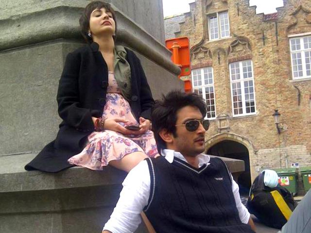 Anushka Sharma shared this image of her PK co-star Sushant Singh Rajput while they shot for the film. (Courtesy: Twitter)