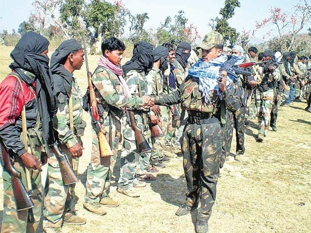Despite-heavy-deployment-of-security-forces-banned-Maoist-outfits-manage-to-conduct-meetings-with-villagers-directing-them-to-boycott-polls-or-cast-their-vote-in-favour-of-a-political-leader-HT-File-Photo