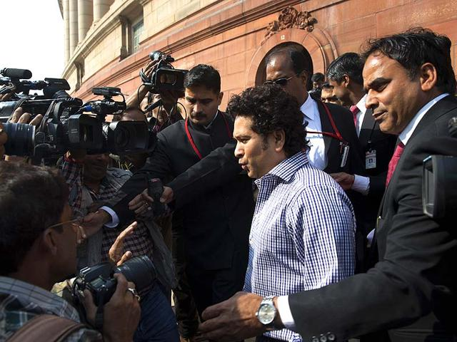 Indian-cricketer-turned-politician-Sachin-Tendulkar-speaks-to-the-media-as-he-comes-out-of-Parliament-during-the-opening-day-of-the-winter-session-of-the-Indian-Parliament-in-New-Delhi-AP-Photo