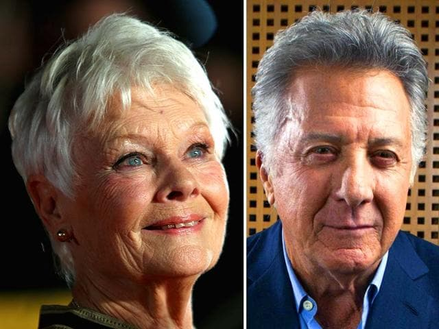 Hollywood-veterans-Judi-Dench-and-Dustin-Hoffman-AFP