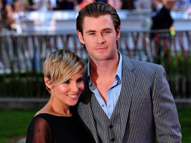 Actor-Chris-Hemsworth-with-wife-Elsa-Pataky-AFP