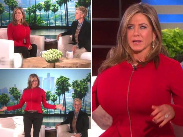 Jennifer-Aniston-and-Ellen-DeGeneres-at-latter-s-talk-show