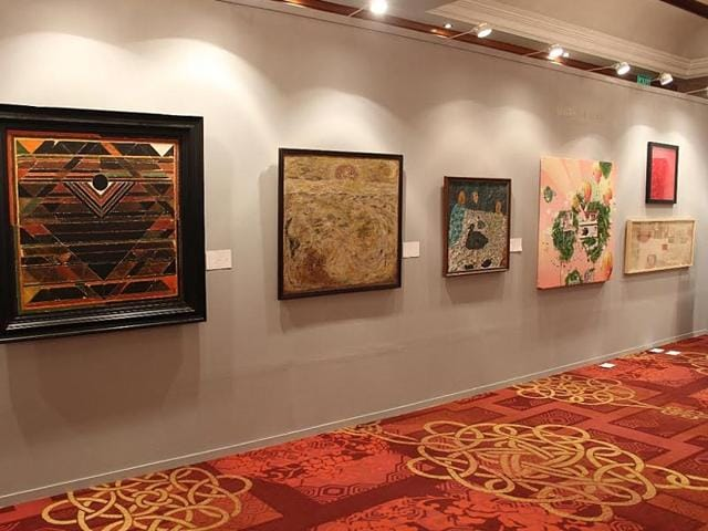 Some-of-the-artwork-that-will-be-auctioned-at-Christie-s-in-Mumbai-HT-Photo