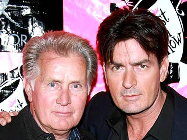 Martin-Sheen-with-son-Charlie