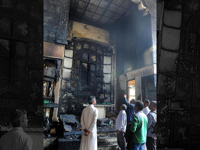 The-church-at-Dilshad-Garden-New-Delhi-was-gutted-in-a-major-fire-on-Monday-morning-HT-Photo