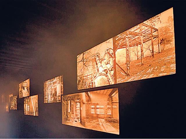Delhi-based-artist-Samar-Singh-Jodha-s-installation-inside-a-cargo-container-in-Rome-HT-photo