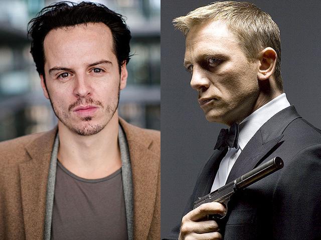 Sherlock-actor-Andrew-Scott-left-and-James-Bond-star-Daniel-Craig-AFP