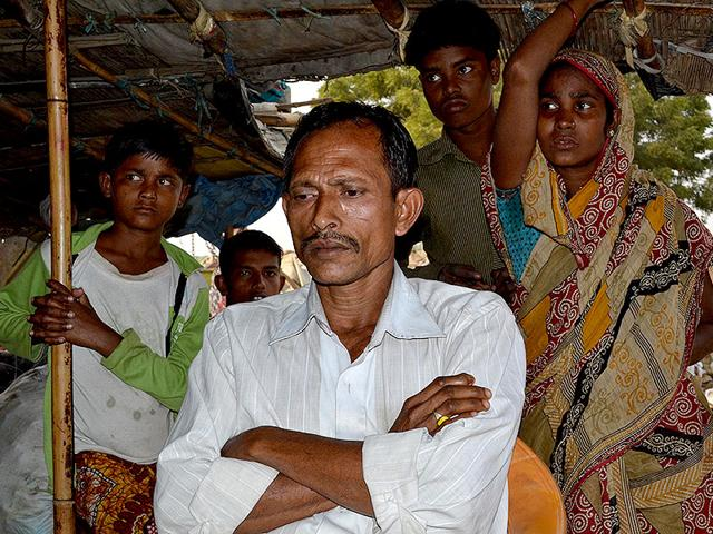 Noor-Mohammad-one-of-the-people-who-alleged-that-the-two-Rashtriya-Swayamsevak-Sangh-offshoots-had-lured-them-into-a-programme-to-collect-BPL-and-ration-cards-HT-photo