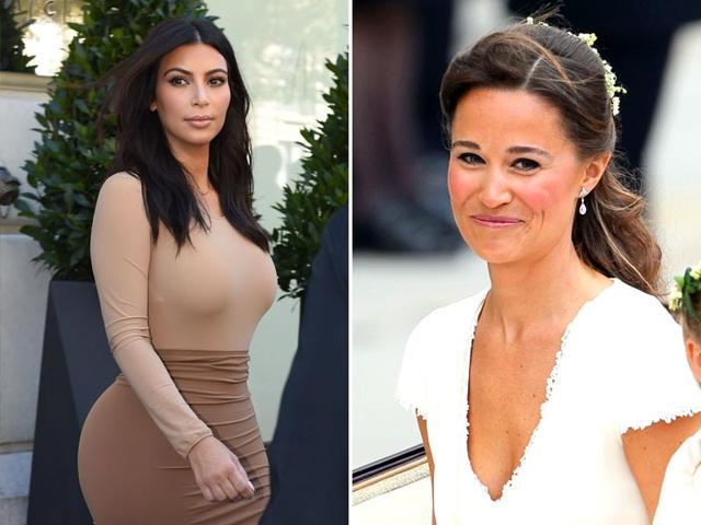 Pippa Middleton,Kim Kardashian',butt