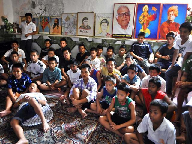 The-two-hostels-Donyi-Polo-Chhatravas-and-Shaheed-Jadonang-Hostel-run-by-Vanvasi-Kalyan-Ashram-has-more-than-100-children-from-the-Northeastern-states-living-here-Photo-HT