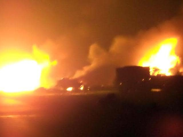 Ten-persons-were-burnt-alive-and-12-others-injured-when-a-gas-tanker-caught-fire-and-exploded-on-the-highway-near-Beelpur-village-in-Rajasthan-HT-Photo