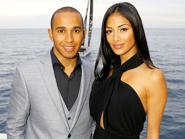 Singer-Nicole-Scherzinger-with-longtime-boyfriend-and-Formula-One-racer-Lewis-Hamilton-AFP