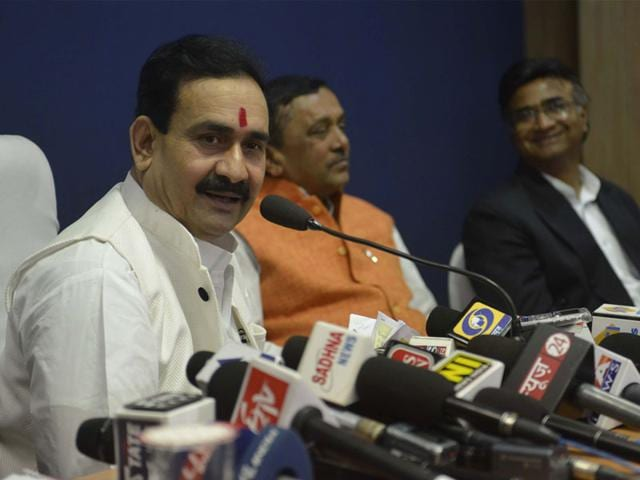 MP-government-spokesperson-Narottam-Mishra-admitted-that-the-cabinet-discussed-the-idea-of-holding-the-budget-session-for-the-state-during-its-meeting-on-Tuesday-Mujeeb-Faruqui-HT-file-photo