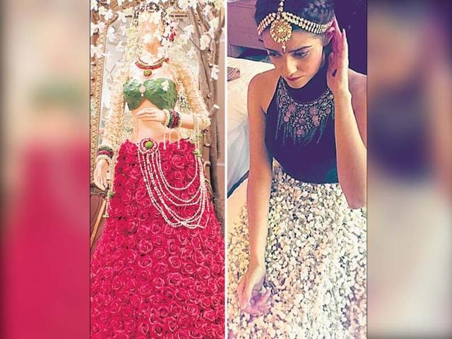 Today-many-brides-are-opting-for-gowns-and-even-lehengas-made-with-real-flowers-HT-Photo